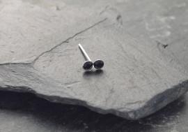 Piercing nez 2 pierres - noir