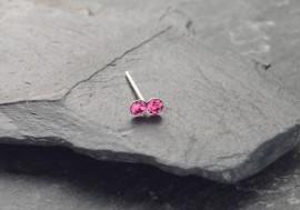 Piercing nez 2 pierres - rose