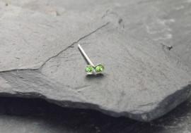 Piercing nez 2 pierres - vert clair