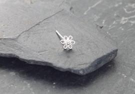 Piercing nez argent fleur