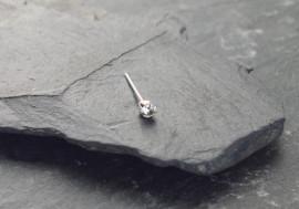 Argent pierre griffée 2mm - blanc