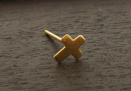 Piercing nez or croix
