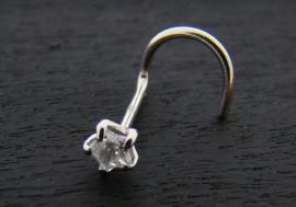Piercing nez or blanc 14K étoile 3mm