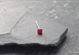 Piercing nez pierre carrée - rouge