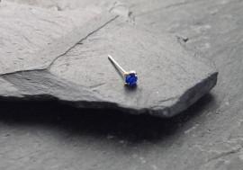Argent pierre griffée 2mm - bleu foncé