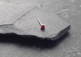 Argent pierre griffée 2mm - rouge