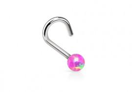 Piercing nez perle opalite rose