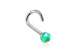 Piercing nez perle opalite verte