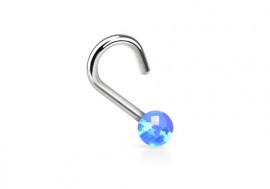 Piercing nez perle opalite bleue