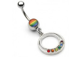 Piercing nombril rond gay pride