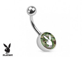 Piercing nombril Playboy® camouflage vert