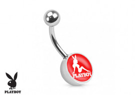 Piercing nombril Playboy® pin-up rouge