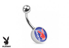 Piercing nombril Playboy® rouge et bleu