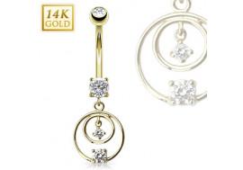 Piercing nombri chandelier double loop 2