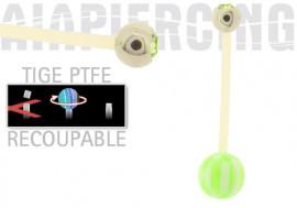 piercing nombril damier vert et cristal