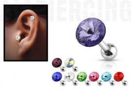 cristal pour piercing tragus ou cartilage