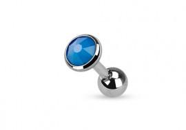 Piercing cartilage ou tragus opalite bleue