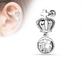 Piercing cartilage couronne et strass