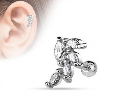 Piercing cartilage, hélix multi zircon