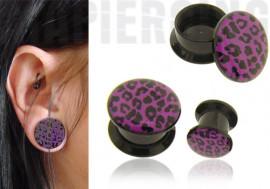 DESTOCKAGE Plug léopard violet
