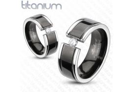 Bague en titane et zirconium
