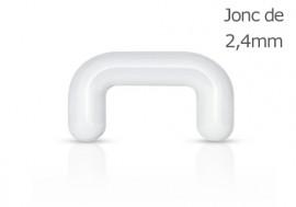 Piercing septum acrylique 2,4mm