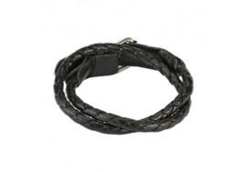 Bracelet tissé noir