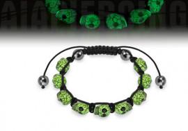 Bracelet têtes de mort phosphorescentes