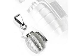 Pendentif acier chirurgical grenade