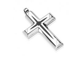 Pendentif croix et étoile noire