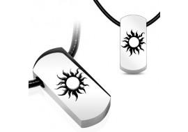 Pendentif acier chirurgical soleil