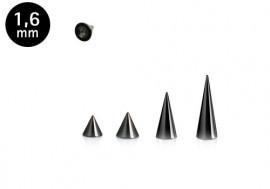 Spike acier noir 1.6mm