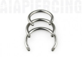 Tige piercing Fer a cheval 1.6mm