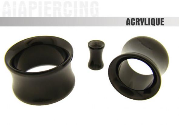 Tunnel noir acrylique- de 3 à 19mm
