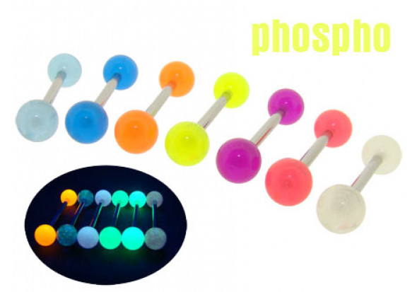 Piercing langue phosphorescent