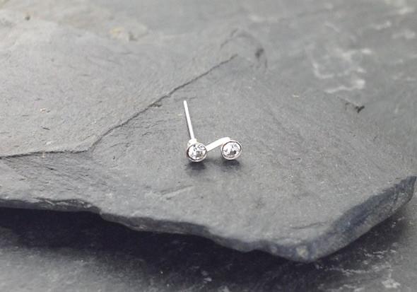 piercing nez 3 pierres en argent pas cher aia piercing. Black Bedroom Furniture Sets. Home Design Ideas