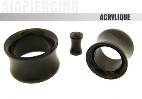 Piercing Tunnel Acrylique Noir