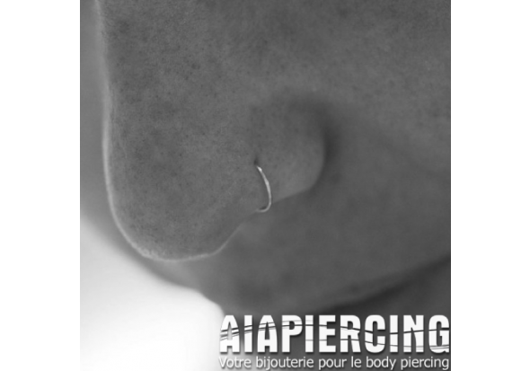 Piercing anneau nez discret