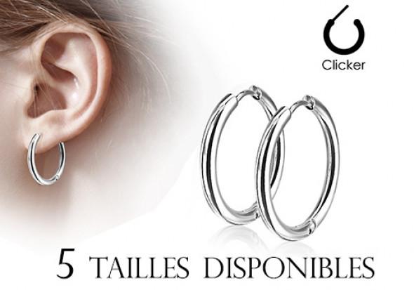 super populaire aea56 c98dd Boucle d'oreille créole acier