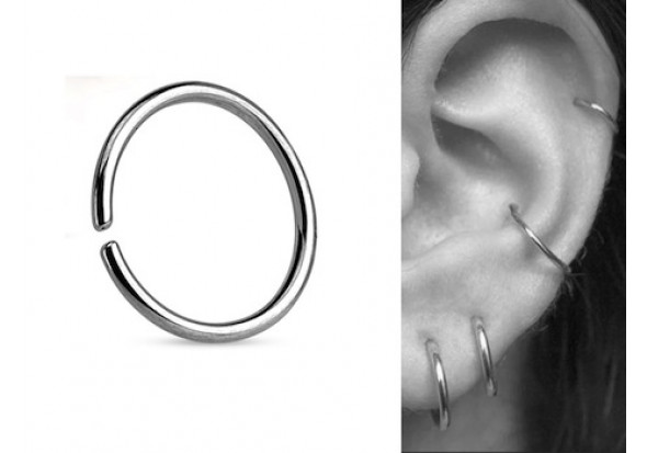 Piercing anneau oreille discret