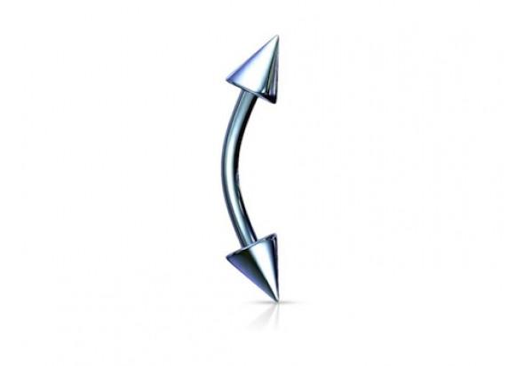 Piercing arcade spike anodisé bleu clair