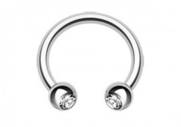 Accessoires piercing fer a cheval tige acier