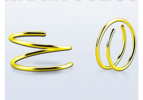 Piercing anneau nez double vermeil