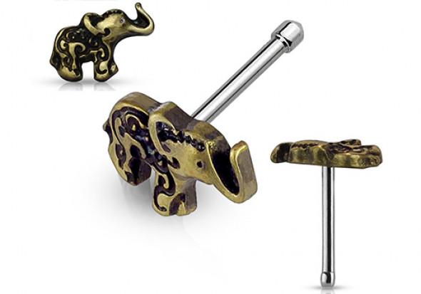 Piercing Nez éléphant vintage bronze