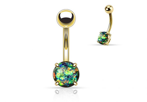 Piercing nombril opale brillante essence
