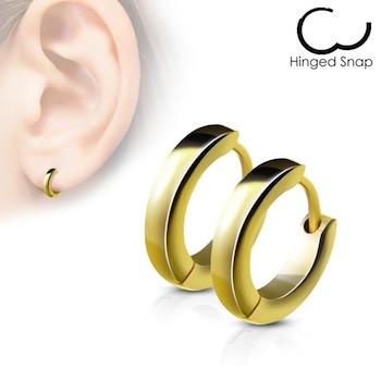 plus de photos 2060f 34d6f Boucle d'oreille anneau plaqué or jaune
