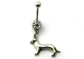 DESTOCKAGE piercing nombril petit chien