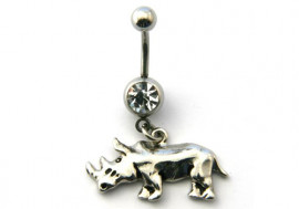DESTOCKAGE piercing nombril rhinocéroce