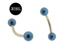 Piercing arcade Billes bleu nuit 4mm