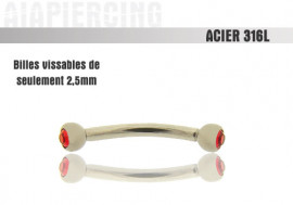 Pierres rouges 3mm